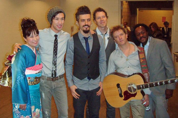 Yukiko Matsuyama with Shakira\'s Band at the Latin Grammy Awards