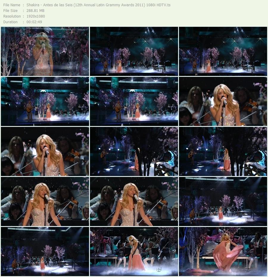 Shakira Antes de las Seis Latin Grammy Awards